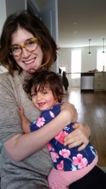 Justine and Rosie at Home in Philly, 11-16-2016